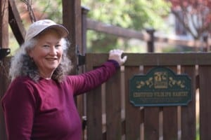 Carolyn with CWH gate